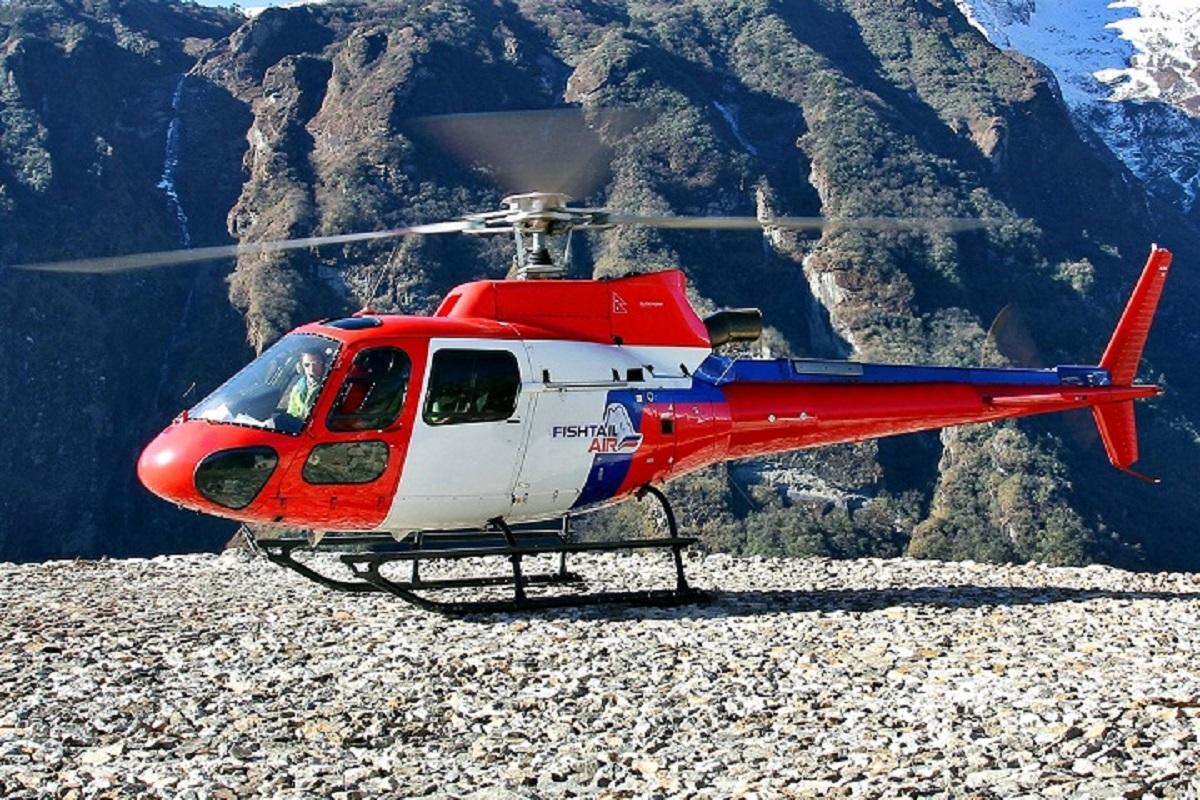 Gosaikunda helicopter
